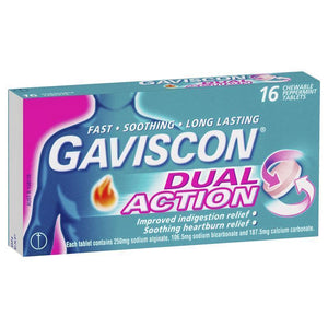 Gaviscon DUAL ACTION Chewable Tablets 16 - PEPPERMINT