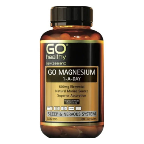 GO Healthy GO Magnesium 1-A-Day 500mg Capsules 60s