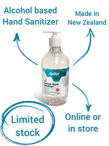 Geller Instant Hand Sanitiser 500ml (or similar available in store)