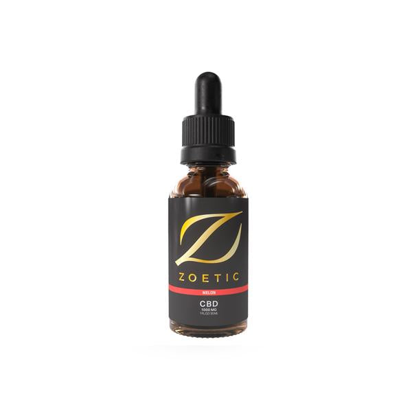Zoetic 1000mg CBD Oil 30ml - Gorgeous Melon