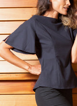 Load image into Gallery viewer, REVERSIBLE BELL SLEEVE BLOUSE