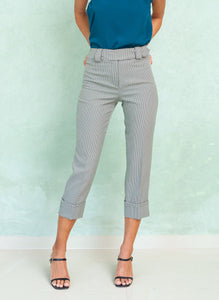 CUFFED CROP PANTS