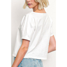 Load image into Gallery viewer, Pleated Sleeve T-shirt