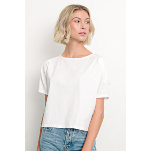 Pleated Sleeve T-shirt
