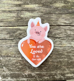 PIGGY HEART STICKER