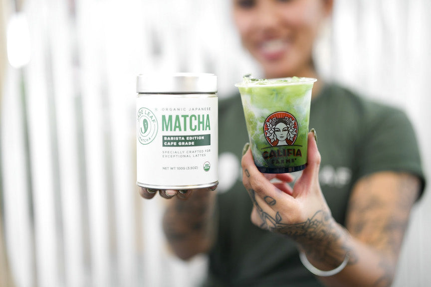 Jade Leaf + Califia matcha delivery