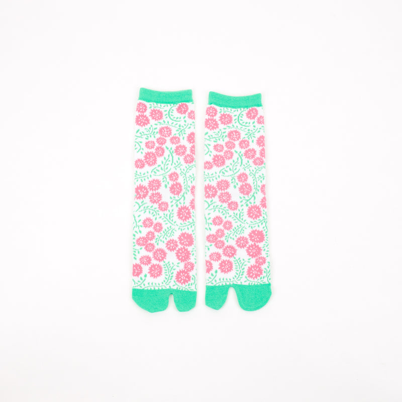 Tabi socks Atsumekikutabi Light blue mid calf