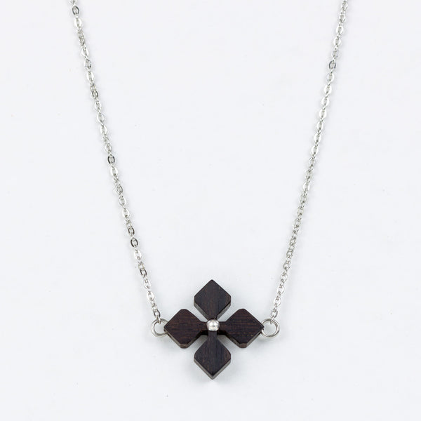 Hana Necklace Ebony Surgical Stainless Steel