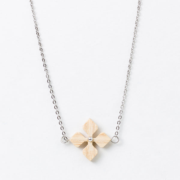 Hana Necklace White Ash Silver Surgical Stainless Steel