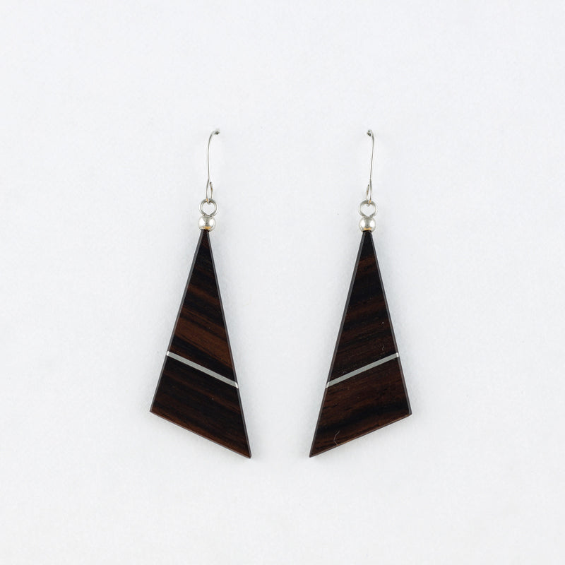Hata Earrings Ebony Surgical Stainless Steel