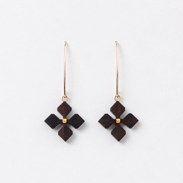 Shape Hana Earrings Ebony 14Kgf