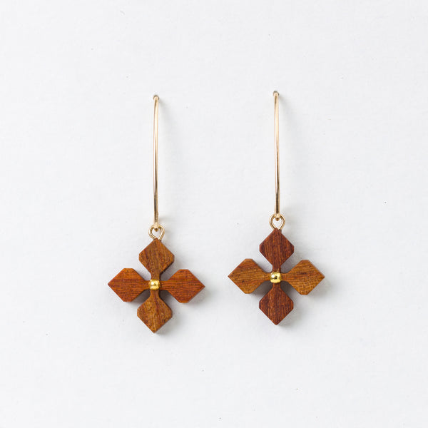 Shape Hana Earrings Rosewood 14Kgf
