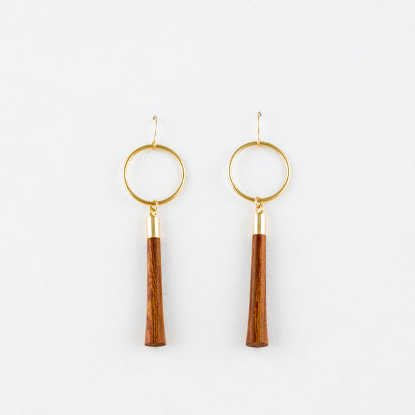 Tassel Earrings Rosewood 14Kgf