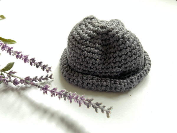 "Handmade Pewter ""Lucas"" Newborn Photography Hat"