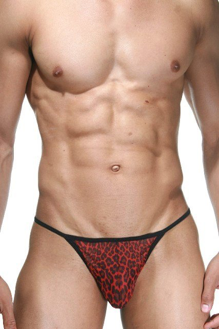 La Blinque red leopard brief