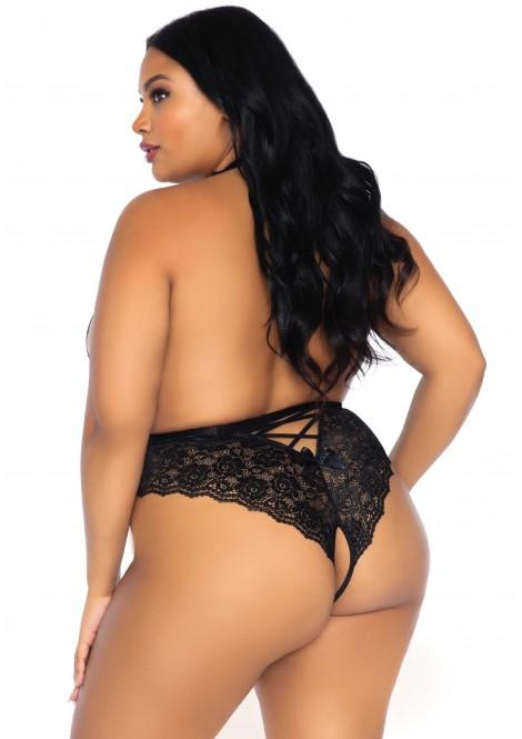 Leg Avenue | Plus Size | Backless & Crotchless Teddy | Sexy Lingerie