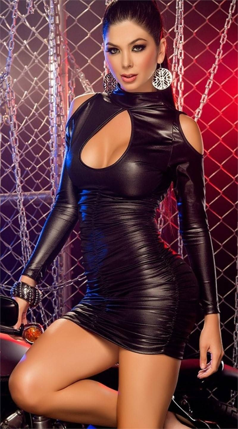 Dreams Sexy Faux-leather Dress