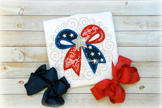 4th of July Patriotic bow
