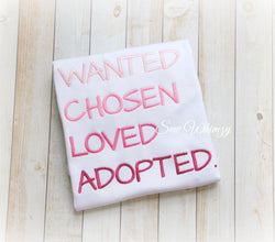 Girl's adoption shirt
