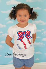 Baseball bow shirt