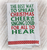 Christmas cheer kitchen holiday towel