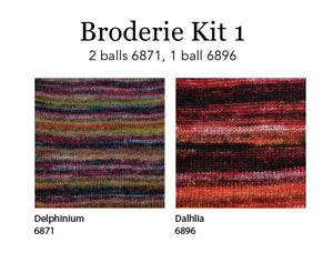 broderie shawl kit by berroco.