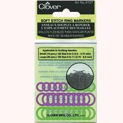 clover soft rubber stitch markers