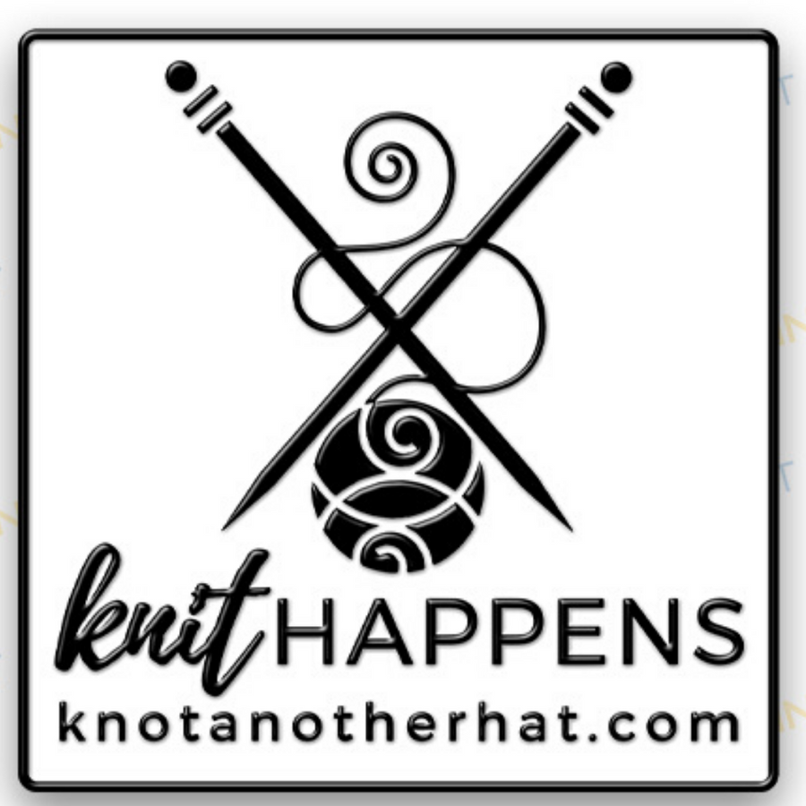 knot another hat knit happens enamel pin