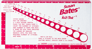 susan bates knit check gauge