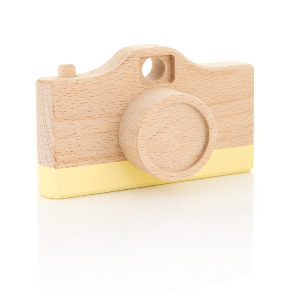 Pastel Yellow Camera Toy