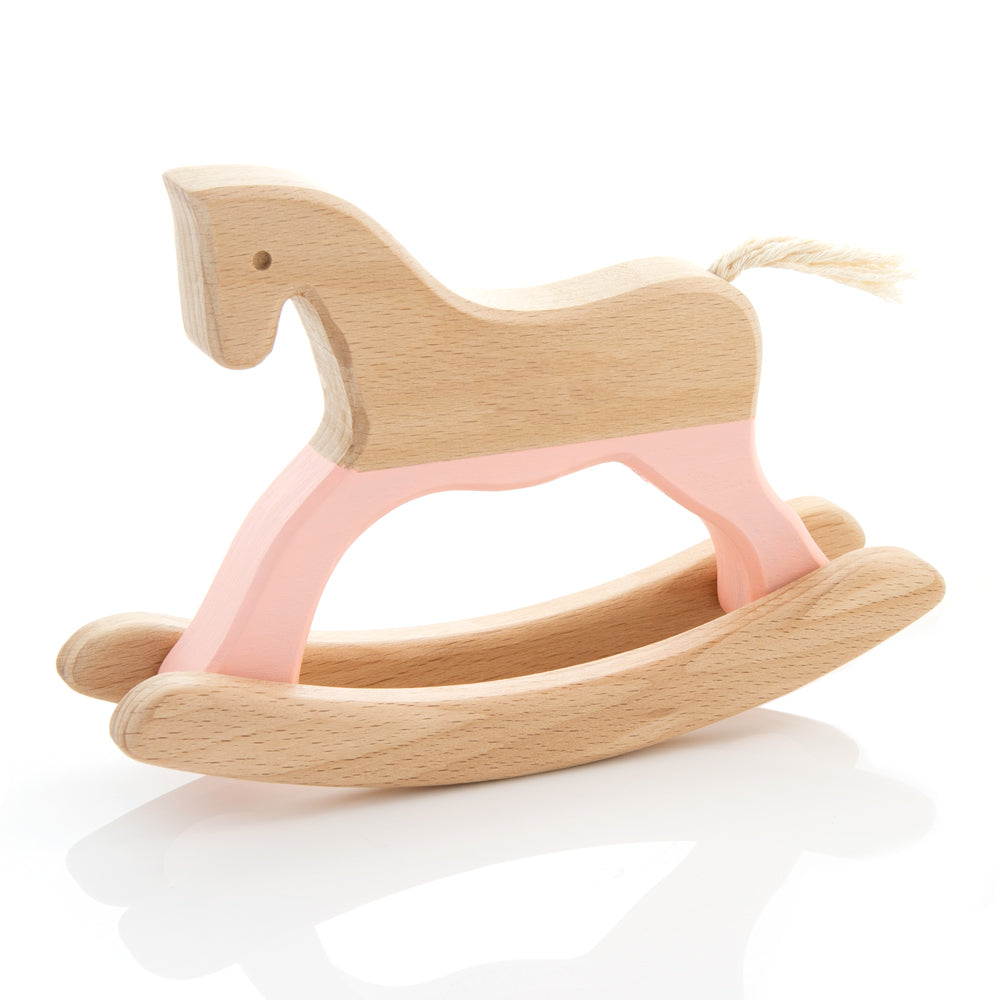 Rocking Horse in Pastel Peach