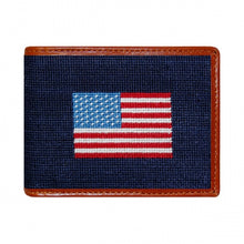 Load image into Gallery viewer, American Flag Needlepoint Bi-Fold Wallet