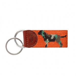 Camo Retriever Needlepoint Key Fob