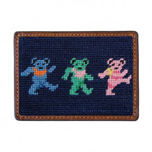 Load image into Gallery viewer, Dancing Bears Needlepoint Card Wallet