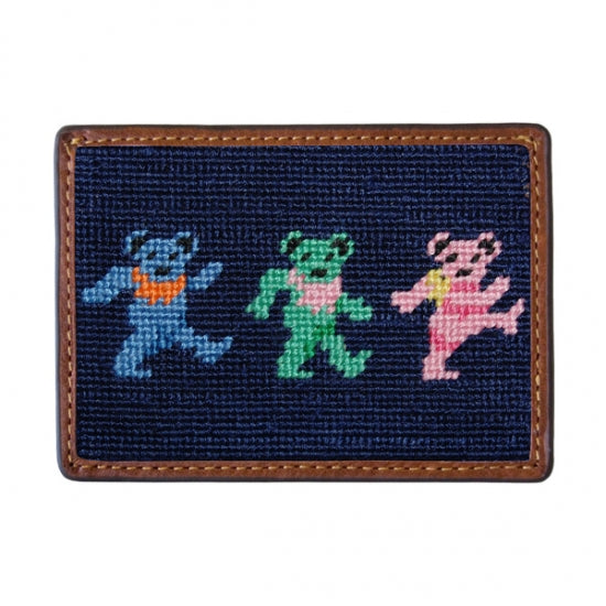 Dancing Bears Needlepoint Card Wallet