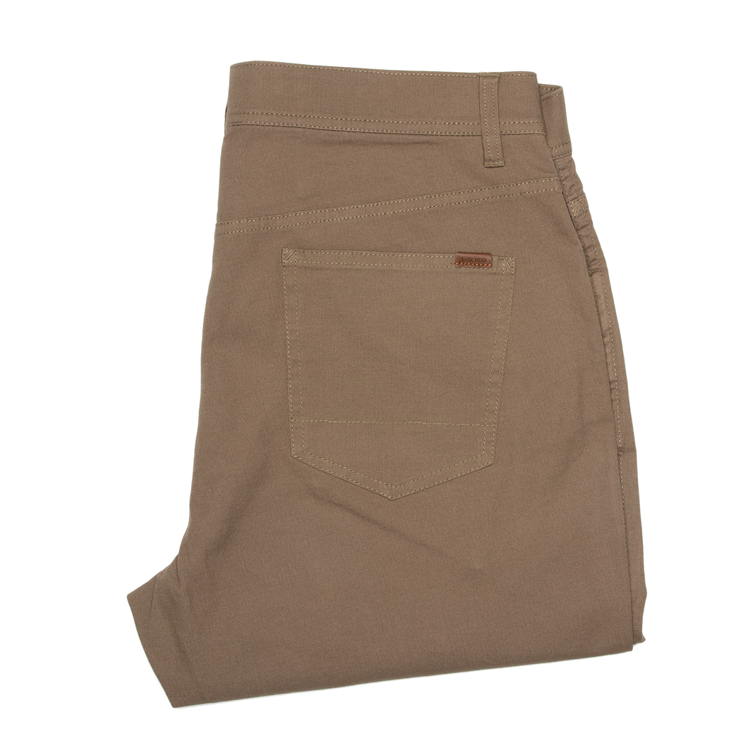 1865 Pocket Pinpoint Canvas Chino - Khaki