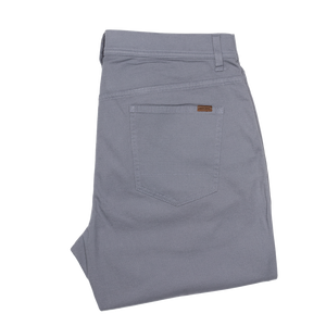 1865 Pocket Pinpoint Canvas Chino - Slate Blue