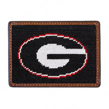 Load image into Gallery viewer, UGA (BLACK) Needlepoint Card Wallet