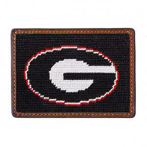 UGA (BLACK) Needlepoint Card Wallet