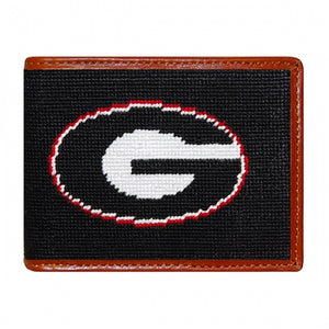 UGA (BLACK) Needlepoint Bi-Fold Wallet