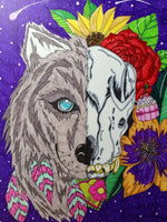 Wolf and Skull by Tanya Medeiros 30 by 40 CM- Full Drill Crystal Rhinestones