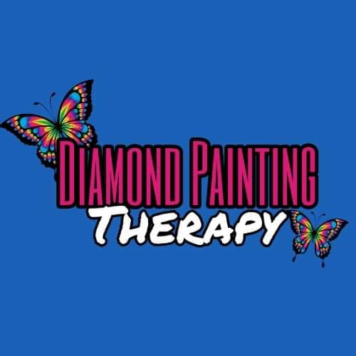 Diamond Painting Therapy Logo- 40 by 40 CM- Full Drill Round