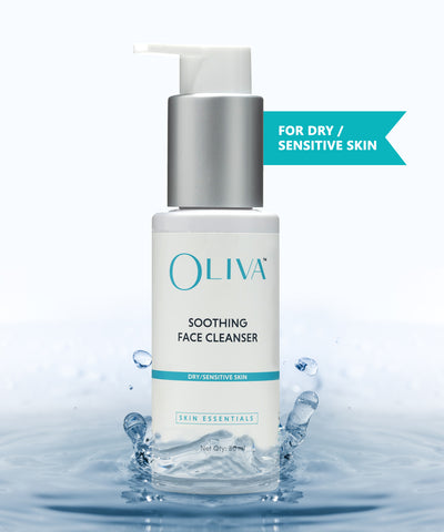Oliva Soothing Face Cleanser - Dry / Sensitive Skin 80ml