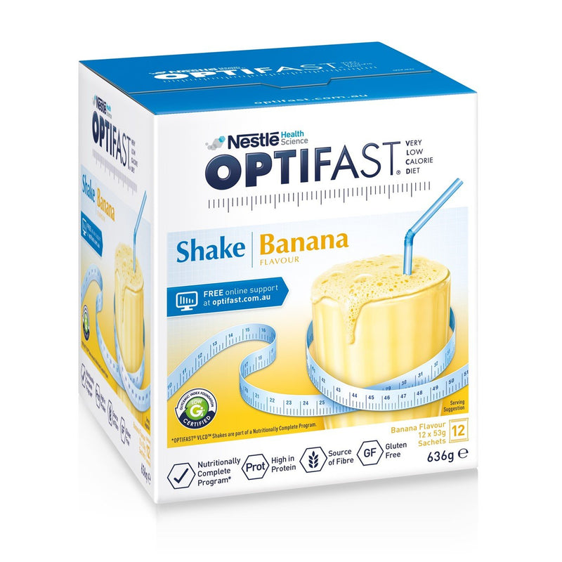 OPTIFAST® weightloss milkshake (Banana) (12 x 53g)