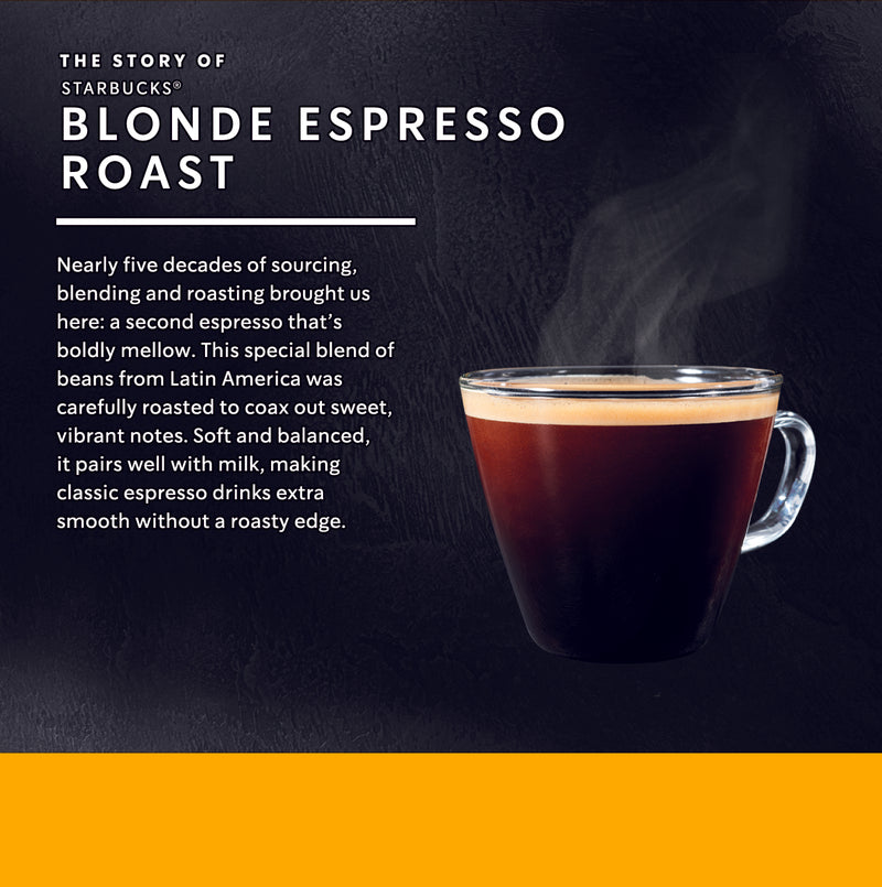 Starbucks® Blonde Expresso Roast by NESCAFÉ®️ Dolce Gusto®️ Coffee Capsules