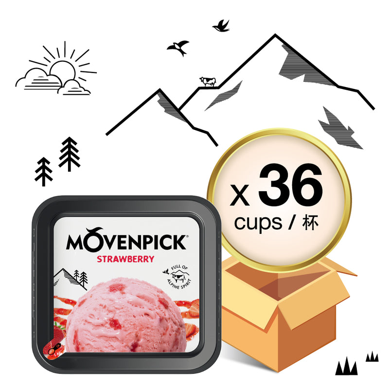 MÖVENPICK® Strawberry Ice Cream 36 x 85 mL (Case)