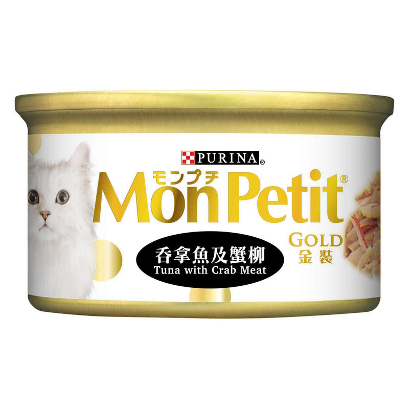 PURINA® MON PETIT® GOLD Tuna & Crab Meat 24 x 85g