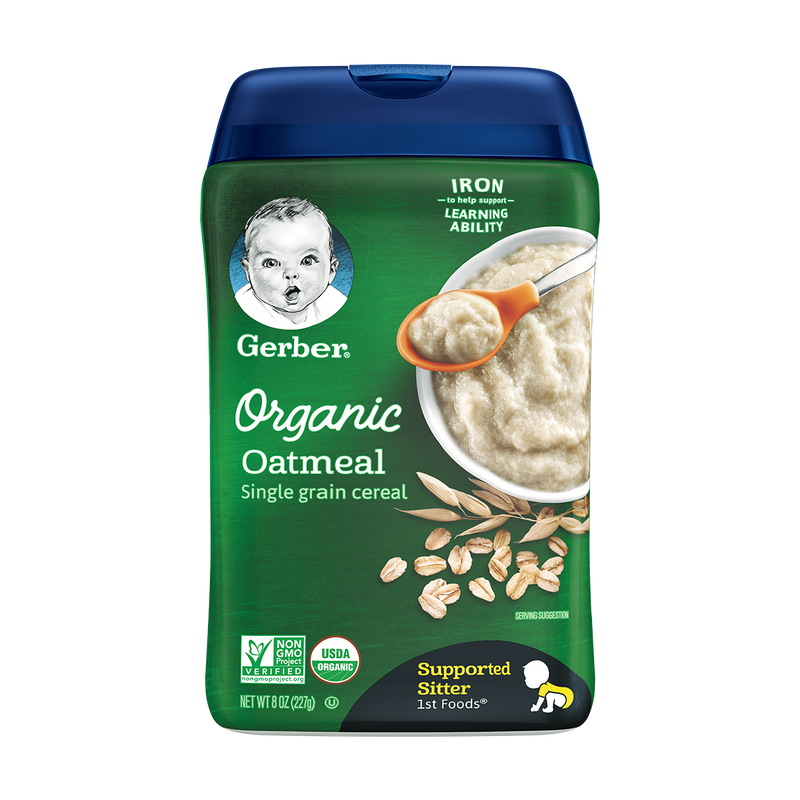 Gerber® Organic Oatmeal Single Grain Cereal 227g
