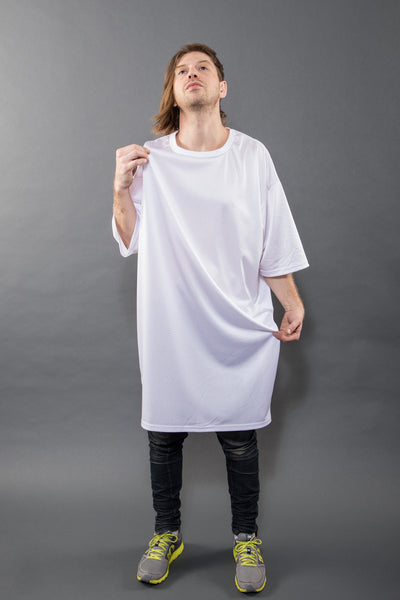 5XL TALLER TEE, BLEACH MESH - Tall Tee - STREETWEAR - NYC - MOVES