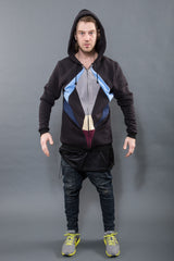 QUADROCEPTICON MENS ZIP UP - Sweatshirt - STREETWEAR - NYC - MOVES
